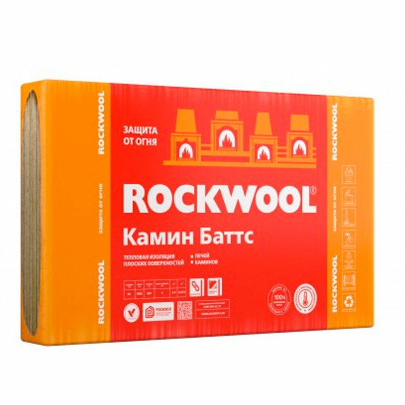 Каменная вата ROCKWOOL (Роквул) Камин Баттс 30 мм
