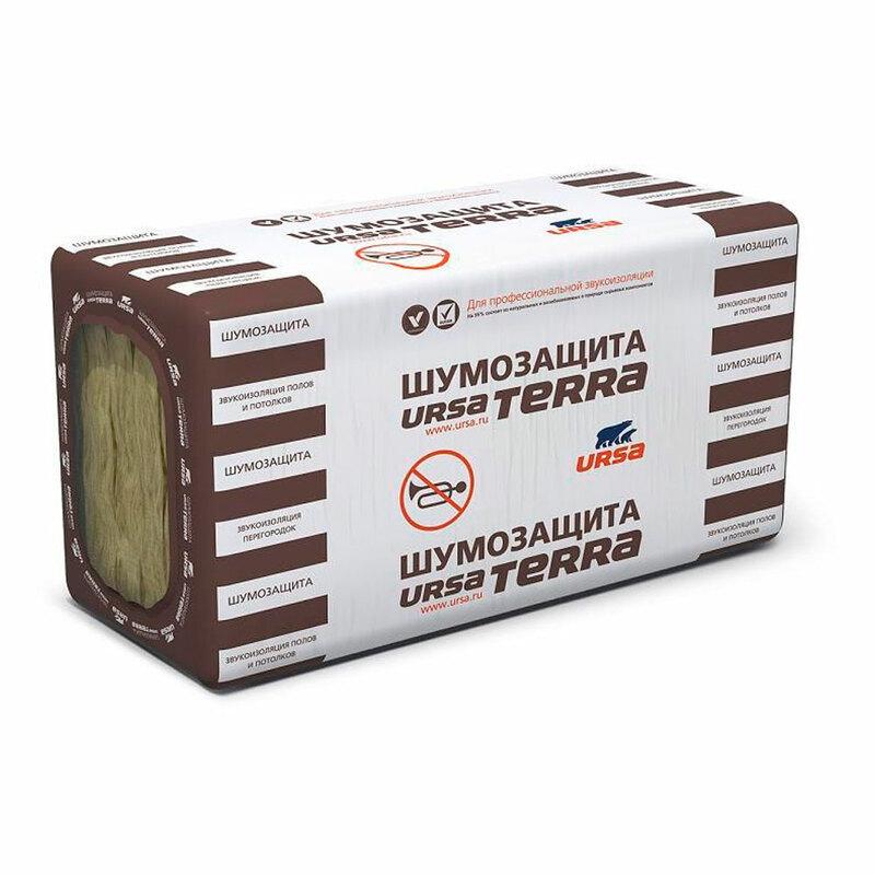 Минеральная вата URSA TERRA 34 PN Шумозащита 50 мм (плита)